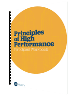 principles of high performance